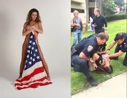Model American Flag Former Playboy Model Arrested In Flag Scuffle Exclusive Hip Hop