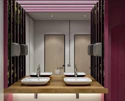 modern office bathroom interior 3d visualizations for a stylish office bathroom project