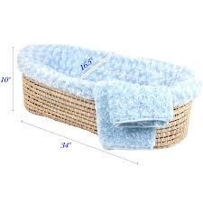 tadpoles polka dot moses basket set blue u2013 ny baby store