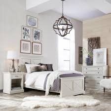 Queen Bedroom Sets Home Styles Seaside Lodge 2 Piece Hand Rubbed White Queen Bedroom