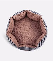 small pet beds amazon com round pet bed for cats small dogs premium organic