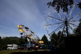 antique amusement park rides rile up neighborhood photo