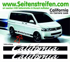 volkswagen bus art sticker side stripes in porsche carrera look for vw bus t4 u0026 t5