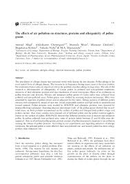 the effects of air pollution on structures proteins and