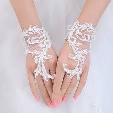 gant mariage gants de mariage bon marché gants de dentelle blanche de mariée