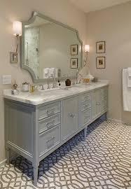 Vanities Furniture Furniture Style Gray Vanity U0026 Gray Trellis Tile Floor Bathroom