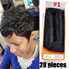 short hairstyles with closures brazilian femi hair collection for woman pure color quick weave