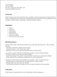 General Warehouse Resume Sample by Professional Facility Engineer Templates To Showcase Your Talent