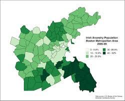 Boston Metro Area Map by Irish Ancestry Population Boston Metropolitan Area 2005 U2026 Flickr