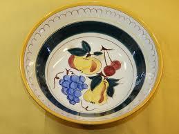 decorative fruit bowl vintage stangl pottery bowl decorative fruit theme fruit bowl