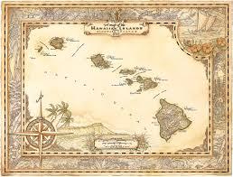 Map Hawaii Vintage Hawaii My Version Of A Map Of The Hawaiian Islands I