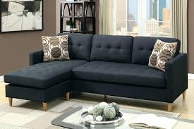 Apartment Sectional Sofas Apartment Sectional 2 Collection Black Fabric In Apartment Size