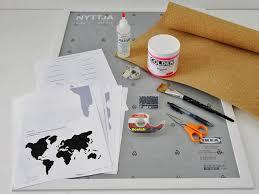 World Map Push Pin Board by Diy Wall Art Make A Custom Corkboard World Map Hgtv