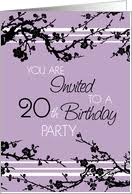 20th birthday invitations from greeting card universe