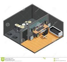 recording studio floor plan drums recording studio interior stock vector image 84617622