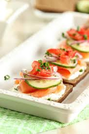 smoked salmon canapes with chive cheese the suburban
