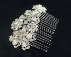 wedding hair combs opal rhinestone flower hair comb pippa jules bridal
