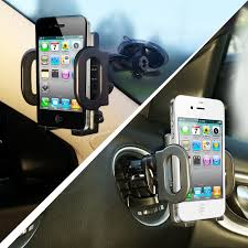 2 in 1 mobile phone car mount holder secure phone gps to