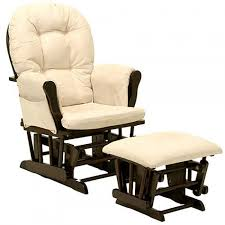 Gliding Rocking Chair Storkcraft Bowback Glider Rocker And Ottoman Beige Cushions