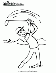 download golf coloring page ziho coloring