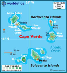 cape verde map world cape verde map geography of cape verde map of cape verde
