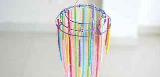 How To Make A Beaded Chandelier Diy Beaded Chandelier How To Make Hanging Decoration With