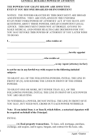 Power Of Attorney Form Va by Power Of Attorney Template Free Template Download Customize And