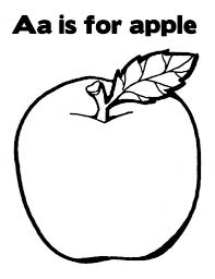 a is for apple coloring page to inspire to color an image cool