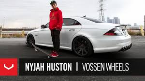 nyjah huston mercedes cls 63 amg nyjah huston day in the vossen wheels