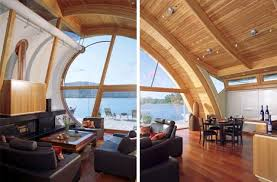 wood home interiors organic wood wave floating home design