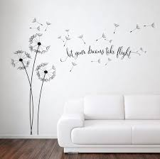 dandelion blowing with quote wall sticker floral sticker flower dandelion blowing with quote wall sticker floral sticker flower sticker floral stickers dandelion wall art dandelion wall decor dandelions urban
