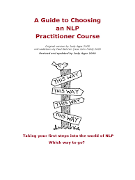 download sugar nlp course guide master practitioner of nlp