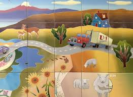 special projects bad dog arts legacy wall mural for gunnison utah 2016 2017 artists michael moonbird and victoria lyons