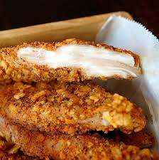 spiced tortilla baked chicken strips recipe u0026 honey lime crema