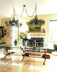 chandelier swag chandelier lighting over dining table with best