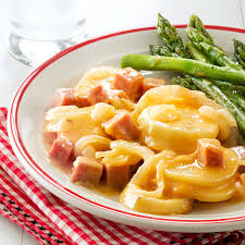 thanksgiving scalloped potatoes mom u0027s scalloped potatoes and ham recipe taste of home
