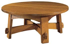 Craftsman Coffee Table Coffee Table Solid Round Mission Coffee Table Furniture Oak