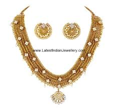 jewelry gold diamond necklace images Designer south indian diamond necklace indian diamond necklace jpg