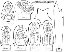colored printable nativity scene patterns patterns kid