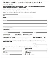 maintenance request form template sle maintenance request form 11 exles in word pdf