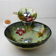 online shop yanksmart tempered glass basin sink washbasin faucet