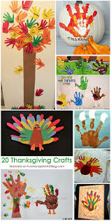 ways to create thanksgiving handprint and footprint crafts