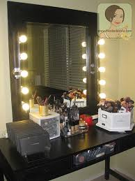 vanity set with lights my makeup vanity set up with diy lighted mirror the shades of u