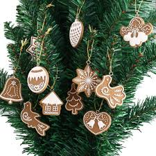 compare prices on fimo christmas decorations online shopping buy 11 piece polymer clay fimo christmas tree ornaments snowflake bell xmas party home christmas decor
