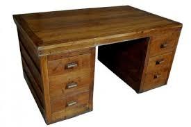 ancien bureau bureau ancien en bois 3 corps grande profondeur
