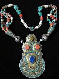 vintage tibetan necklace images Old tibetan tribal jewelry necklace collectible antique jewellery JPG