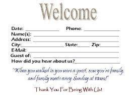 comment card template download this visitor card click the link