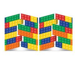 amazon com building block birthday party invitations 16 guests