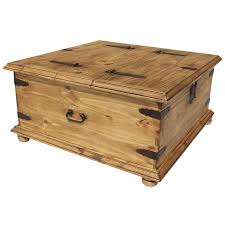 Chest Coffee Table Rustic Pine Collection Trunk Coffee Table Cen09
