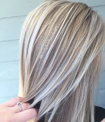 ash brown hair with pale blonde highlights dimensional honey blonde and platinum white blonde healthy shiny